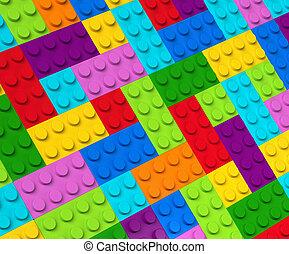 bâtiment, 3d, coloré, perspective, blocs, vue