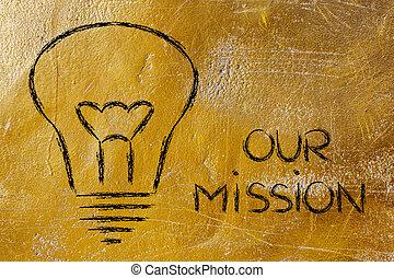 bâtiment, a, marque, compagnie, mission, et, business,...