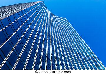 bâtiment, affaires modernes, bureau, gratte-ciel