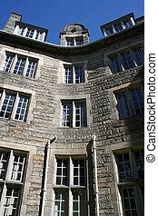 bâtiment, ancien, détail