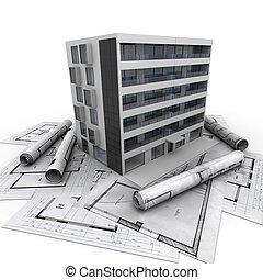 bâtiment, appartement, architecture