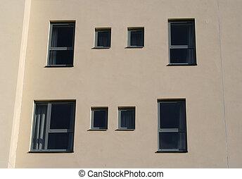 bâtiment, appartement, détail