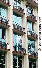 bâtiment, appartement, vue extérieure