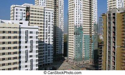 bâtiment, bâtiments, stands, beaucoup, site, nouveau