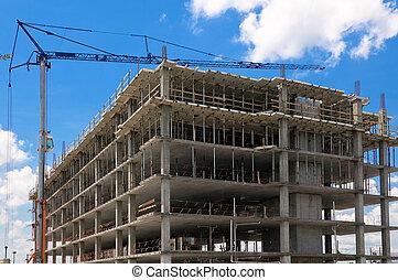 bâtiment, béton, construction
