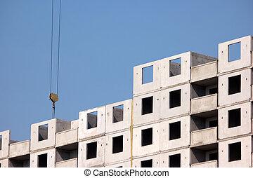 bâtiment béton, structure.