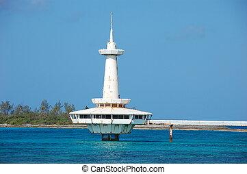 bâtiment, bahamas, abandonnés