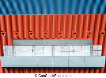 bâtiment, balcons