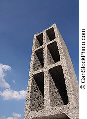 bâtiment, bloc concret