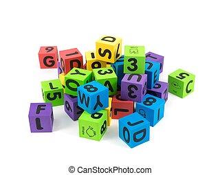 bâtiment, blocs jouet