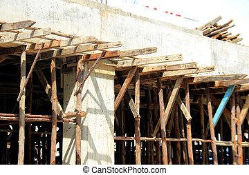 bâtiment, bois, construction