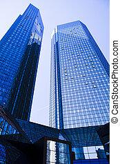 bâtiment, bureau, centre, business