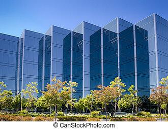 bâtiment bureau, dans, silicon valley