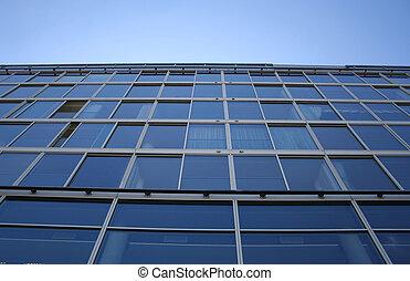 bâtiment bureau, fenetres