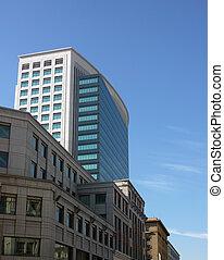 bâtiment, bureau, moderne