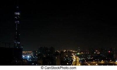 bâtiment, bureau, tv, guangzhou, radiodiffusion, construction, nouveau