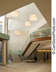 bâtiment bureau, vestibule
