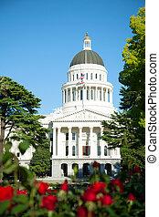 bâtiment, californie, capitole, sacramento