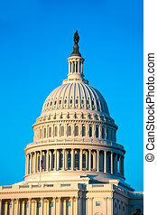 bâtiment, capitole, congrès, washington dc, nous, dôme