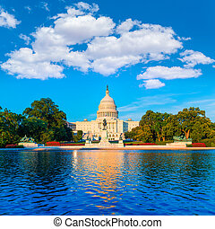 bâtiment, capitole, congrès, washington dc, nous