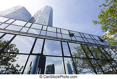 bâtiment, centre, business