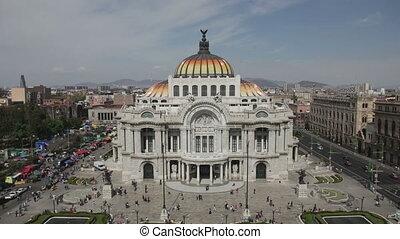 bâtiment, chronocinématographie, impressionnant, artes, mexique, bellas, ville