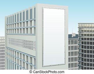 bâtiment, cityscape, composition, site, publicité