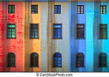 bâtiment, clair