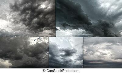 bâtiment, cloudscape, pluvieux, naturel, ciel, orage,...