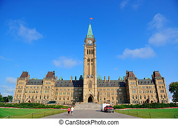 bâtiment, colline parlement, ottawa