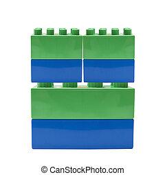 bâtiment, coloré, bloc
