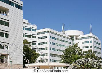 bâtiment, complexe, bureau