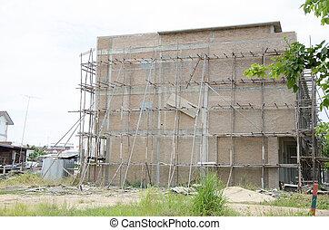 bâtiment, construction., sous