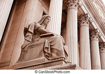 bâtiment, cour suprême, dc, washington
