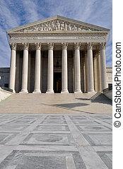 bâtiment, cour suprême, washington dc, nous