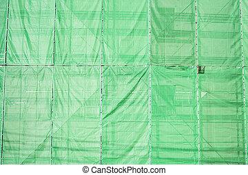 bâtiment, couverture, site, tissu, construction, vert