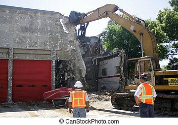 bâtiment, démolition, (2)
