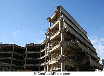 bâtiment, démolition, sous