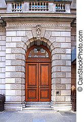 bâtiment, entrée, historique