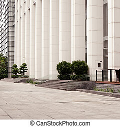 bâtiment, entrée, principal, bureau