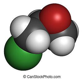 bâtiment, epichlorohydrin, résine, (ech), époxyde, block.