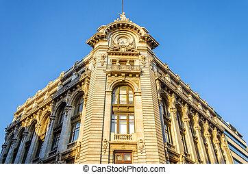 bâtiment,  façade, historique