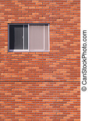 bâtiment, fenêtre, extérieur