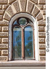 bâtiment, fenêtre, vieux