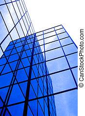 bâtiment, fenetres, bureau