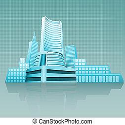 bâtiment, financier