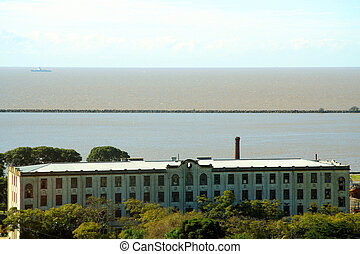 bâtiment, front mer