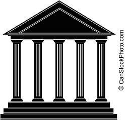 bâtiment, grec, historique, ancien, colonnes