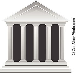 bâtiment, grec, historique, banque