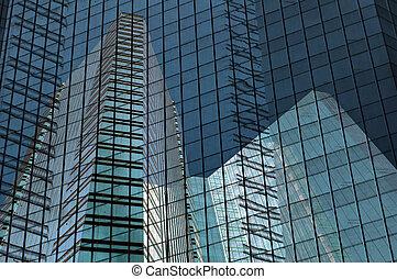 bâtiment, grille